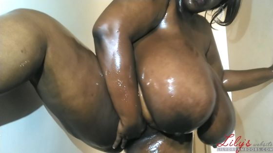 Ms. Chocolitt's crazy oil boob bath