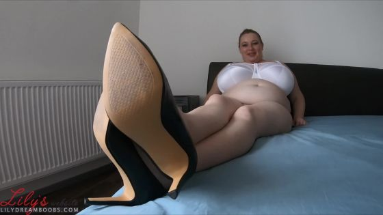 Feet, heels, tickeling, boobs